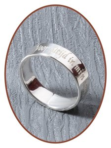 JB Memorials Sterling Zilveren Tekst Gedenk Ring-8mm - RB068