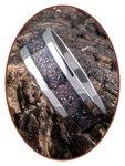 JB Memorials Edelstalen As Ring 'Bright Violet' - CRA010