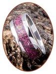 JB Memorials Edelstalen As Ring 'Rose Red' - CRA009