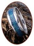 JB Memorials Edelstalen As Ring 'Bright Blue Green' - CRA008