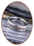 JB Memorials Tungsten Carbide Dames  As Ring - RB048D