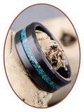 JB Memorials Ceramic Zirconium Opaal Heren As Ring - RB048BO_