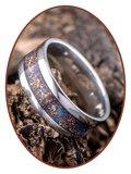 JB Memorials Edelstalen Dames / Heren As Ring 'Sparkling Universe' - CRA002_