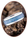 JB Memorials Edelstalen Dames / Heren As Ring 'Heaven Blue' - CRA003
