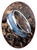 JB Memorials Edelstalen Dames / Heren As Ring 'Heaven Blue' - CRA003_