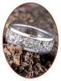 JB Memorials Edelstalen Dames / Heren As Ring 'Sparkling' - CRA004_