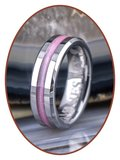 JB Memorials Tungsten Carbide Dames  As Ring - RB048D_