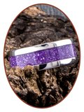 JB Memorials Edelstalen As Ring 'Magic Violet' - CRA011_