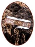 JB Memorials Edelstalen As Ring 'Sparkling Bronze' - CRA007_