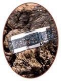 JB Memorials Edelstalen As Ring 'Gold Blue' - CRA005_