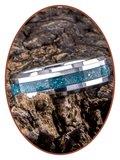 JB Memorials Tungsten Carbide 'Blue Gold' Dames  As Ring - RB048DBG
