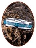 JB Memorials Tungsten Carbide 'Blue Gold' Dames  As Ring - RB048DBG_