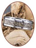 JB Memorials Tungsten Carbide Heren As Ring - RB140_