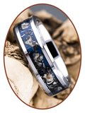 JB Memorials Zeer Exclusieve Tungsten Carbide Meteoriet - Dinosaurus  As Ring - CRT140