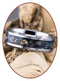 JB Memorials Zeer Exclusieve Tungsten Carbide Meteoriet - Dinosaurus  As Ring - CRT140_
