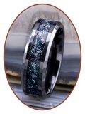 JB Memorials Ceramic Zirconium 'Night Sky' As Ring - CRC141_