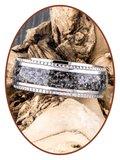 JB Memorials Edelstalen Dames / Heren Zichtbare As Ring - RB002_