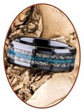 JB Memorials Ceramic Zirconium As Ring - RB142_