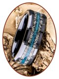 JB Memorials Ceramic Zirconium As Ring - RB142