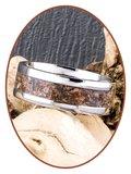 JB Memorials Edelstalen As Ring 'Versteend Hout' - CRA025_
