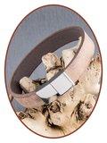JB Memorials Edelstalen RVS / Leren Graveer (As) Armband met vulschroef - ZAS014V