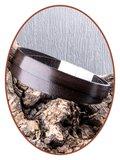 JB Memorials Edelstalen RVS / Leren (As) Armband met vulschroef - VAS007