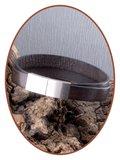 JB Memorials Edelstalen RVS / Leren (As) Armband met vulschroef - VAS007_