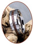 JB Memorials Tungsten Carbide Heren Opaal  As Ring - RB048HO
