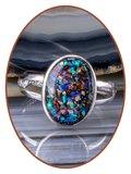 JB Memorials Sterling Zilveren Dames Design Opal As Ring - CM030