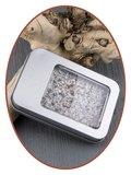 Aluminium As / Haarlok Bewaardoosje met venster - AL006