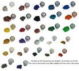 JB Memorials Edelstalen As Ring 'Multi Color Glow' - CRA017_