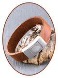 JB Memorials Meerdere Kleuren RVS Lederen Gedenk (As) Armband - ZAS060