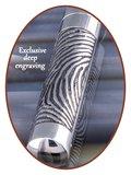 Edelstalen/RVS 'Tube Vingerafdruk' Ashanger - B389V_