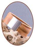 JB Memorials Edelstalen RVS Lederen Gedenk (As) Armband 30mm - ZAS061A