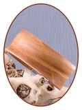 JB Memorials Edelstalen RVS Lederen Gedenk (As) Armband 30mm - ZAS061A_