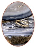 JB Memorials Tungsten Carbide Dames As Ring 'Broken White' 4mm - RB143W_