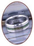 JB Memorials Tungsten Carbide Heren  As gedenk Ring met Gesatineerde afwerking - RB048MG_