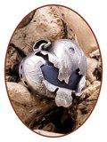 Close2Me© 'Broken Heart' Vintage Sterling Zilveren Ashanger - CM011_