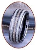 JB Memorials Exclusive Black Ceramic Zirconium As Ring - WR015B_