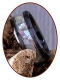 JB Memorials Ceramic Zirconium As Ring Abalone Shell 8mm - RB141SE_