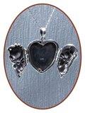 Exclusief 925 Sterling Zilveren 'Nature' Assieraad / Medaillon - ZSP221