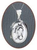 925 Sterling Zilveren 'Paarden' Assieraad / Medaillon - ZSP222