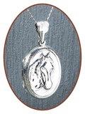 925 Sterling Zilveren 'Paarden' Assieraad / Medaillon - ZSP222_