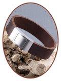 JB Memorials Edelstalen RVS Lederen Gedenk (As) Armband - ZAS010
