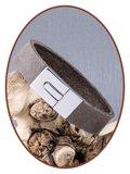 JB Memorials Edelstalen RVS / Leren (As) Armband met vulschroef - ZAS011