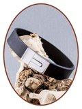 JB Memorials Edelstalen RVS / Leren (As) Armband met vulschroef - ZAS008_