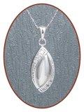 925 Sterling Zilveren 'Traan' Design Ashanger - Z012