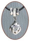 925 Sterling Zilveren Asbedel - Z014_