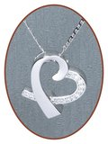 925 Sterling Zilveren 'in my heart' Ashanger - Z017_