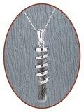 925 Sterling Zilveren Haarlok Hanger - Z032H